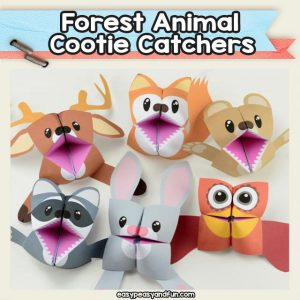 Forest animal cootie catchers