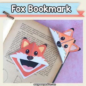 Printable Fox Corner Bookmark Origami for Kids
