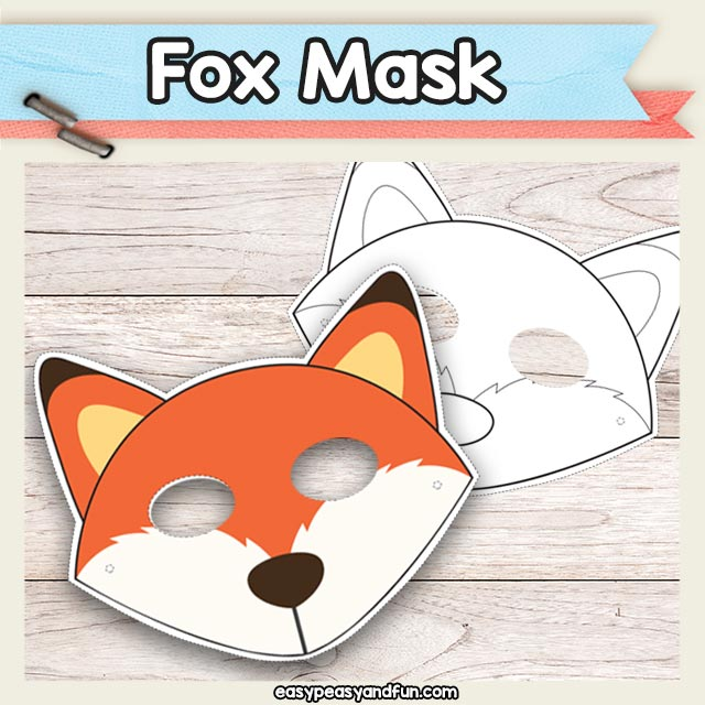 Printable Fox Mask Template - great for dramatic play kids love