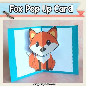 Fox Pop Up Card Printable Template - Fox Crafts for Kids