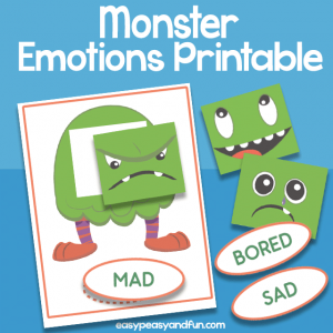 Monster Emotions Printable