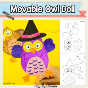 Printable Movable Paper Doll Template - Halloween Craft for Kids