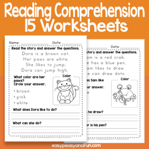 Short Reading Comprehension Passages Worksheets