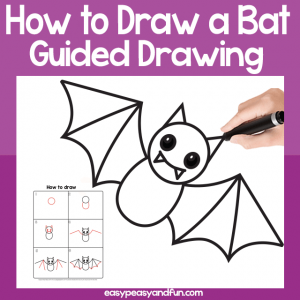 How to draw a bat guided drawing