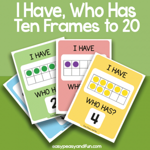 I Have, Who Has Ten Frames up to 10