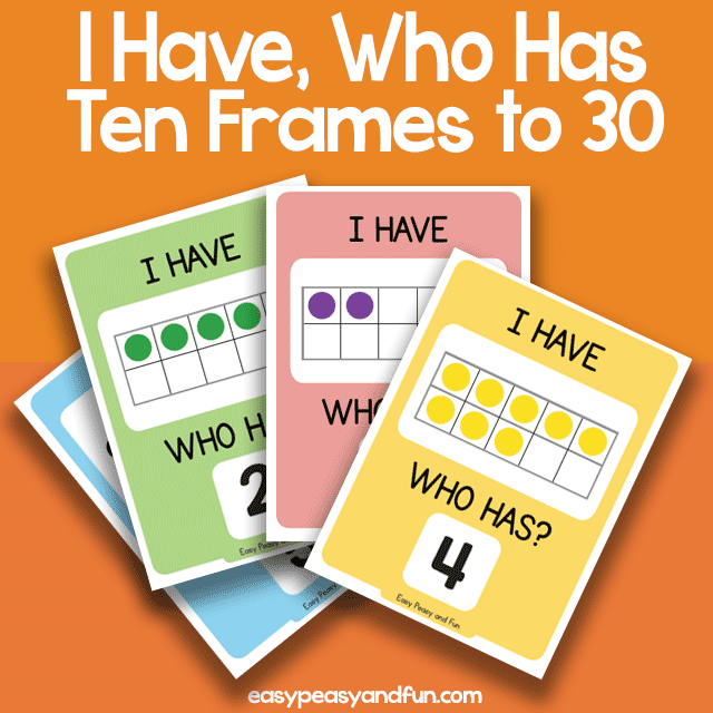I Have, Who Has Ten Frames up to 30