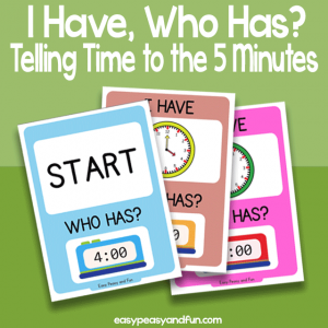 I have, Who Has Telling Time to The 5 Minutes