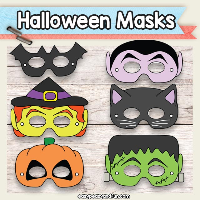 Printable Halloween Masks