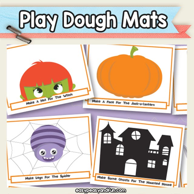 Printable Halloween Play Dough Mats