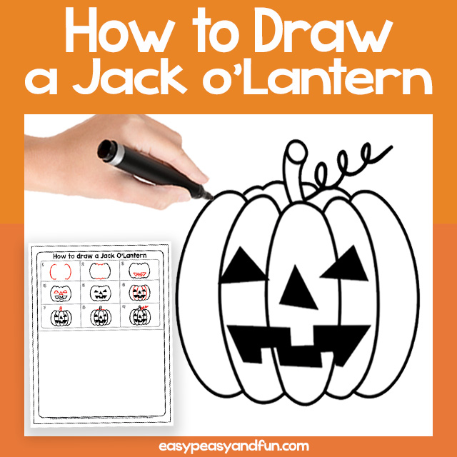 Jack-o-Lantern Guided Drawing
