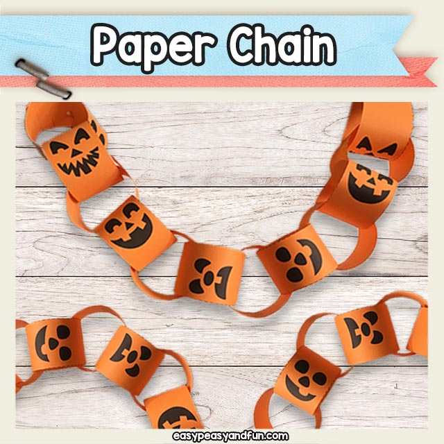 halloween paper chain template easy peasy and fun membership