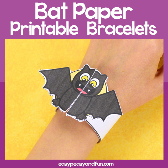 photograph about Printable Bat named Printable Bat Paper Bracelet Straightforward Peasy and Entertaining Subscription