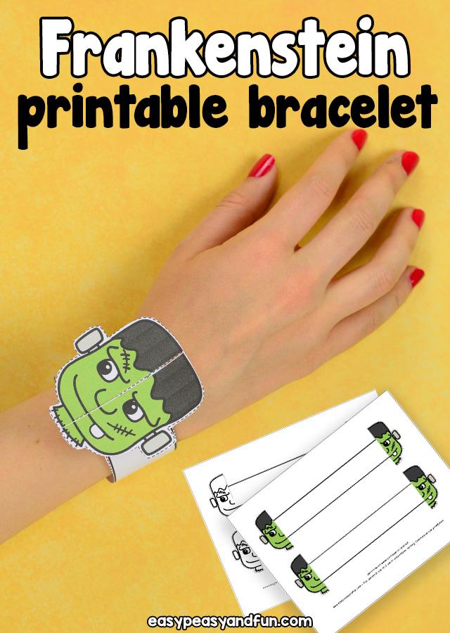 Printable Frankenstein Paper Bracelet