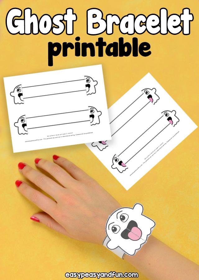 Printable Ghost Paper Bracelet