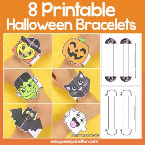 Printable Halloween Bracelets