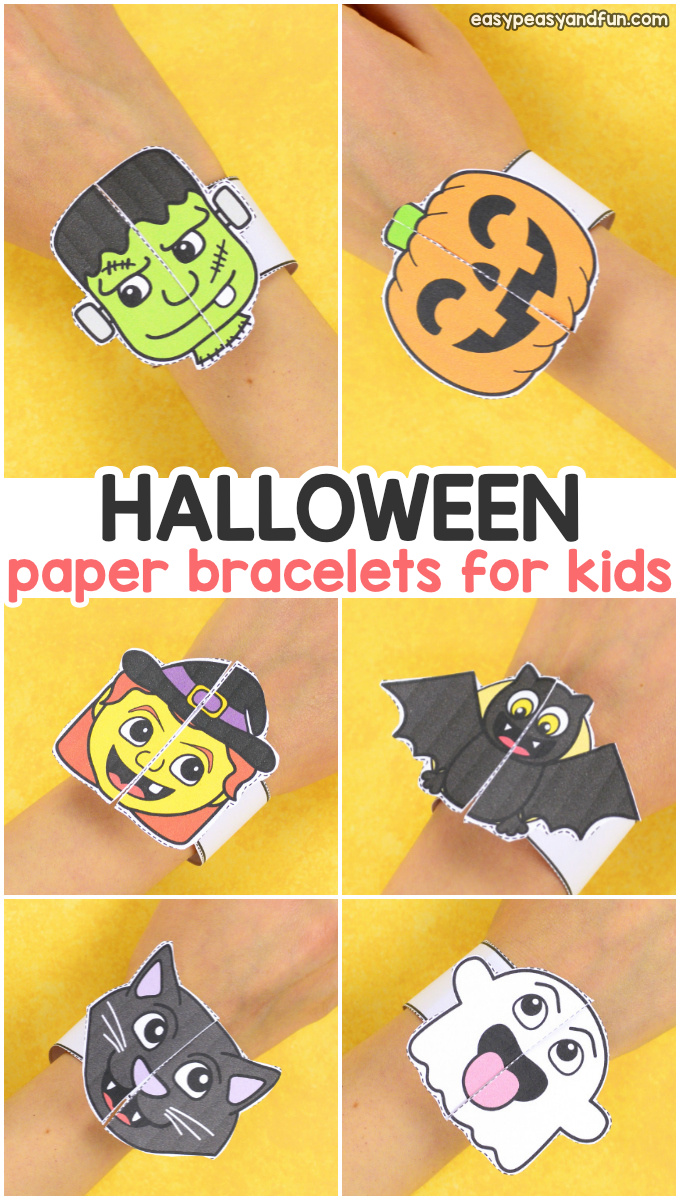 cPrintable Halloween Bracelets for Kids to Make