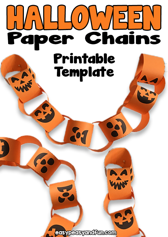 Printable Halloween Paper Chain
