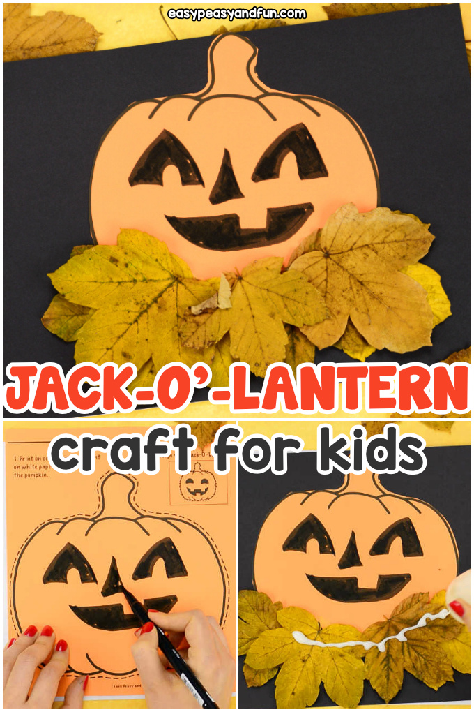 Pumpkin Craft Template for Kids - design your Jack-o-lantern