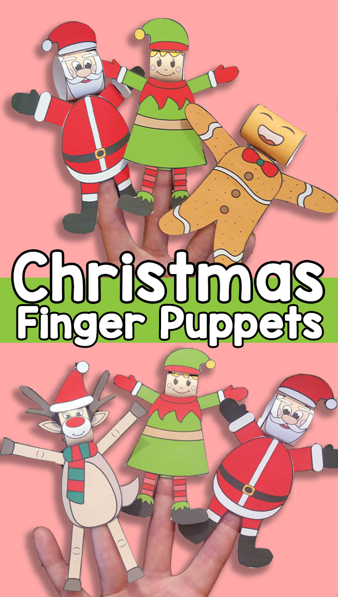 Printable Christmas Finger Puppets - Easy Christmas craft for kids