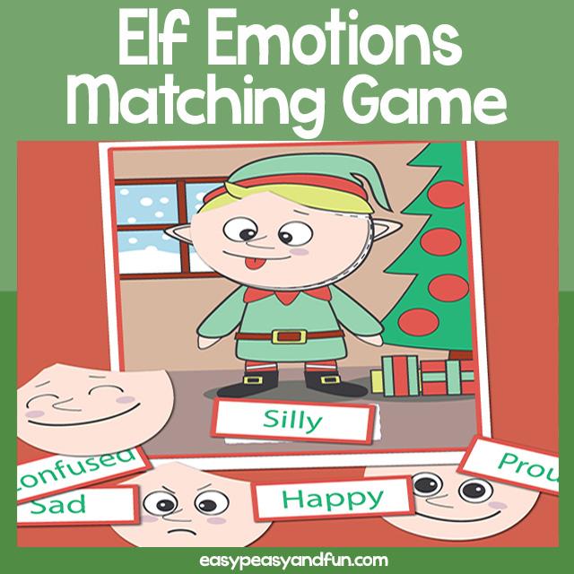 photo regarding Printable Emotions referred to as Printable Xmas Elf Thoughts Puzzle Straightforward Peasy and Enjoyable