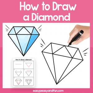 Diamond Guided Drawing Printable