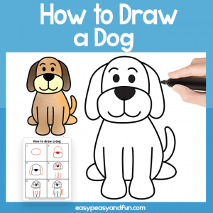 Dog Guided Drawing Printable