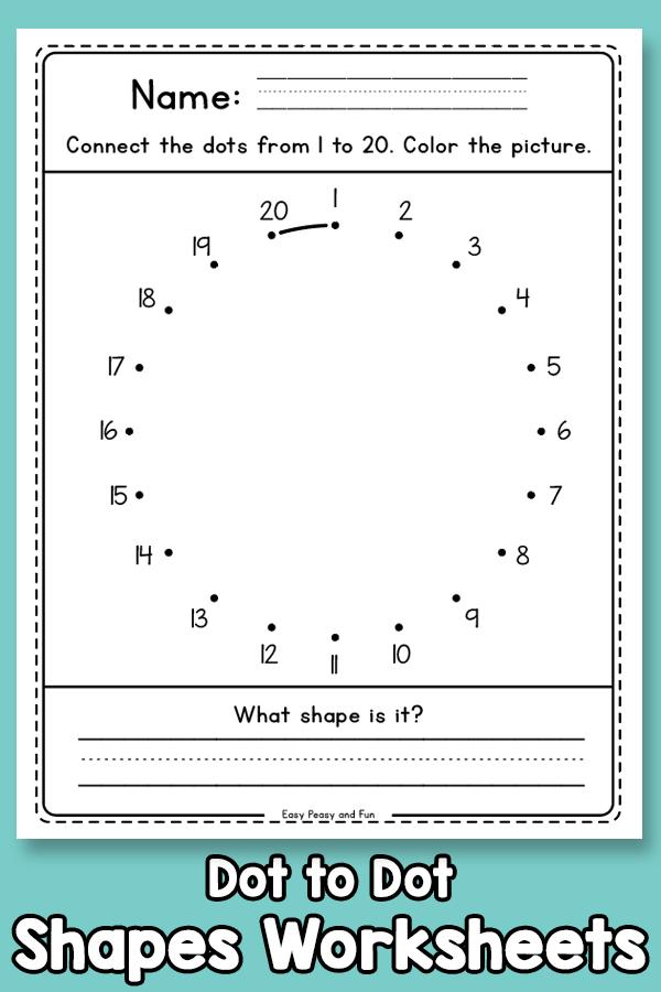 Dot to Dot - Shapes Worksheets