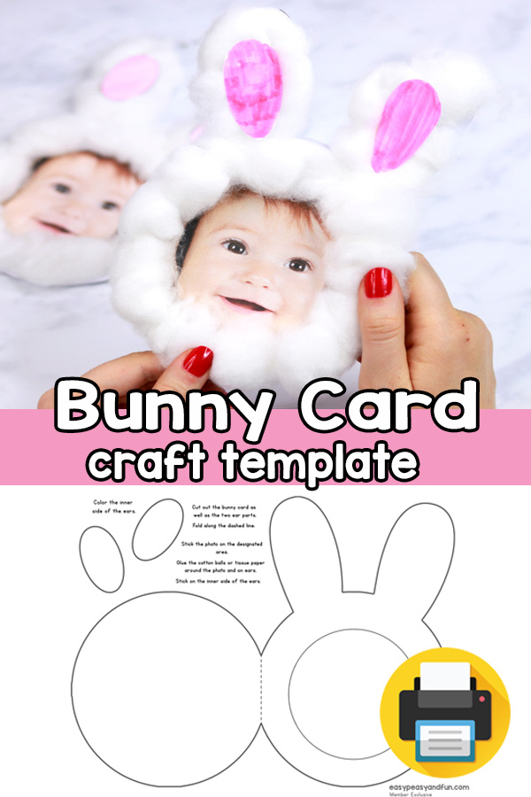 Easter Bunny Card Printable Template