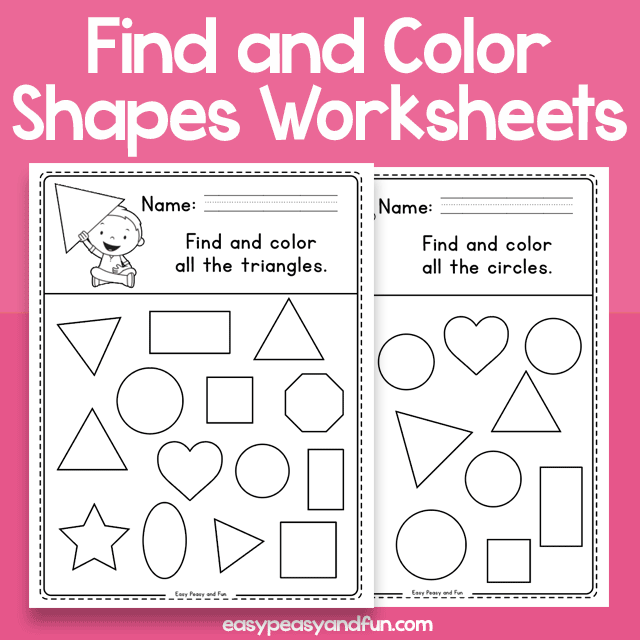 Find and Color - Shapes Worksheets