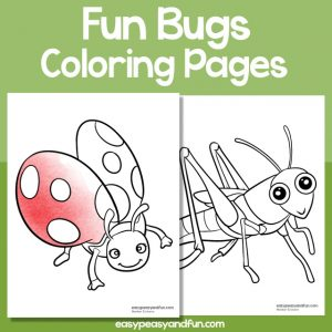 Fun bugs coloring pages