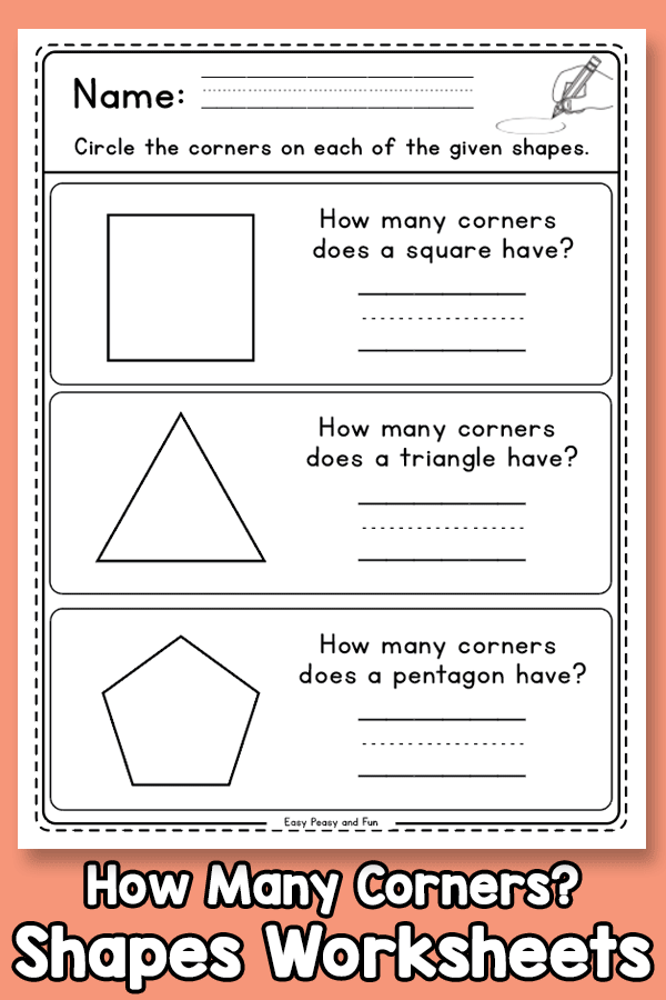 How Many Corners Does a Shape Have Worksheets