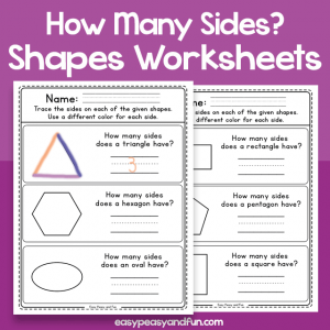 How Many Sides Does a Shape Have - Worksheets