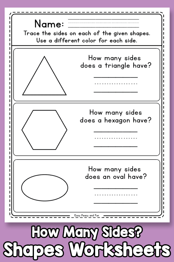 How Many Sides Does a Shape Have Worksheets