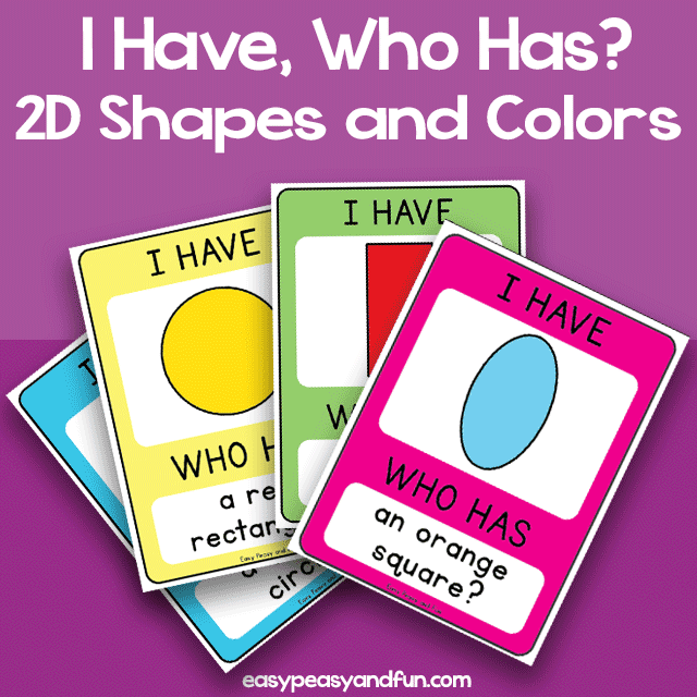 I Have Who Has - Shapes and Colors