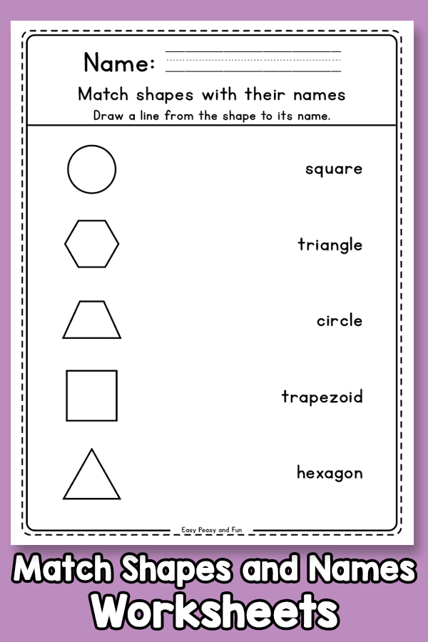 Match the Shapes with their Names (1)