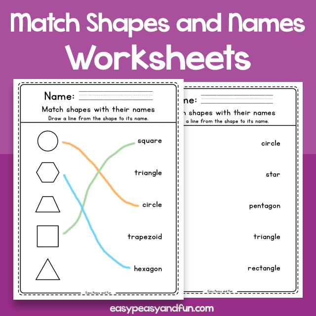 Match the Shapes with their Names Worksheets (1)