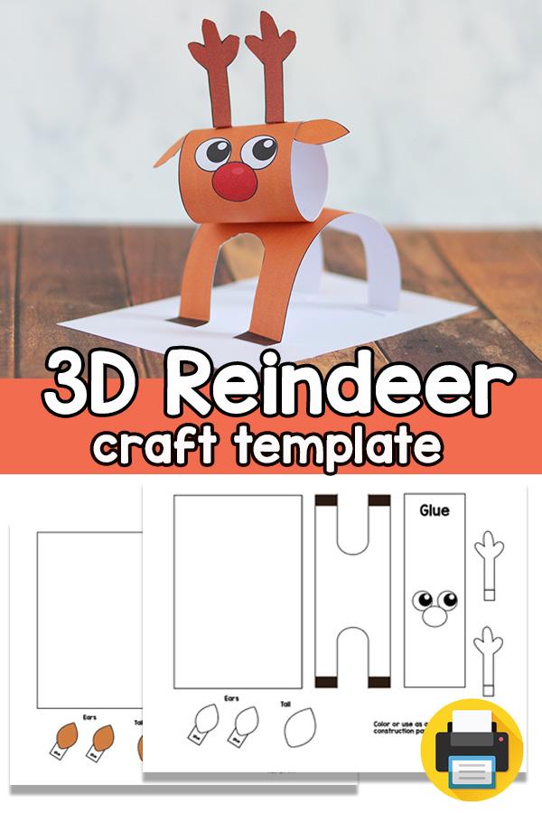 Reindeer Christmas Craft Template