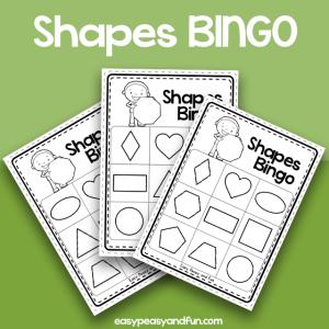 Shapes BINGO - Black and White
