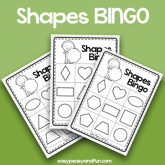 Shapes BINGO - Black and White