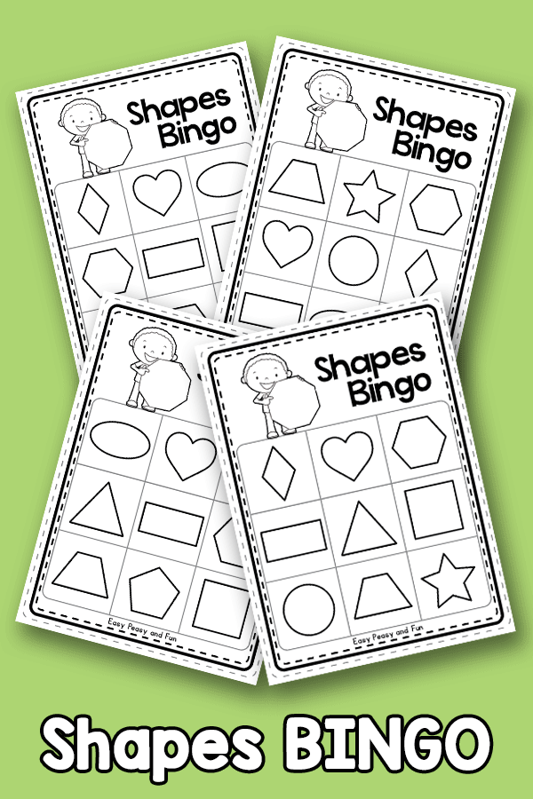 Shapes BINGO- Black and White