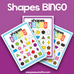 Shapes and Colors Bingo Cards - a fun game of bingo to work on shapes and colors