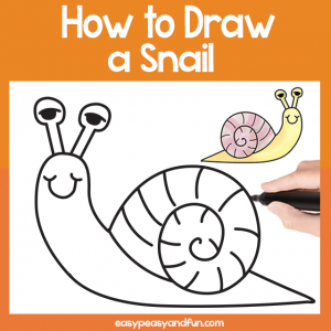 Snail Guided Drawing Printable
