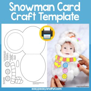 Snowman Card Craft Template