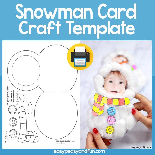 Snowman Card Craft Template