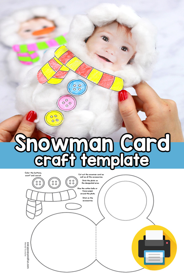 Snowman Craft Template - Lovely DIY Christmas Card