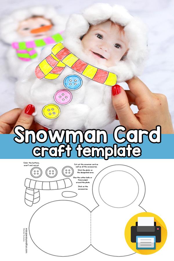 Snowman Craft Template - Lovely DIY Christmas Card