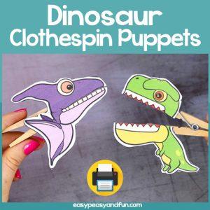 Clothespin Puppets Dinosaur Craft