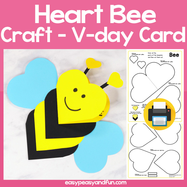 Heart Bee Craft for Kids