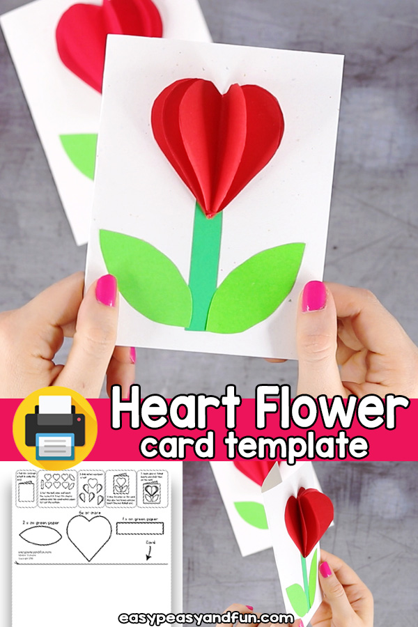 Heart Card Valentines Day or Mothers Day Craft Template