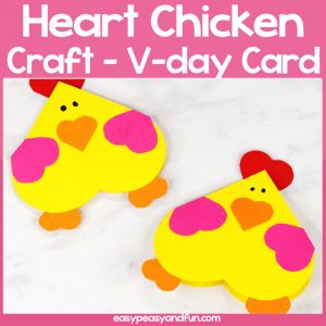 Heart Chicken Craft for Kids